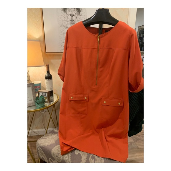 Sharagano Dresses Woman Burnt Orange Dress 16w Poshmark